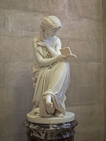 The Reading Girl statue