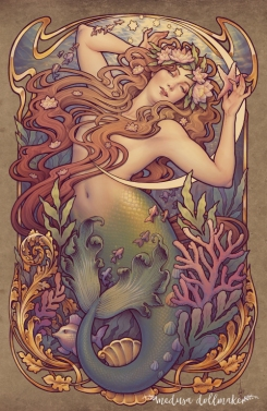 Andersen's Litter Mermaid_Medusa Dollmaker