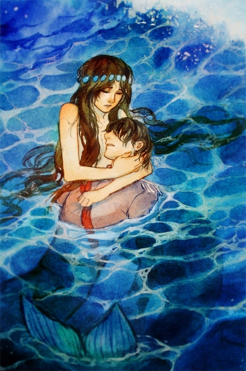Little Mermaid, Saving the Prince_Qinni.jpg